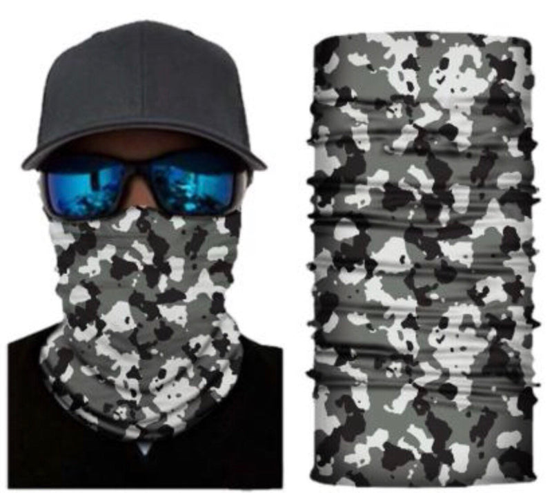 Camo Neck Gaiter Face Mask Bandana - Ships Next Day USPS First Class - Free Shipping!