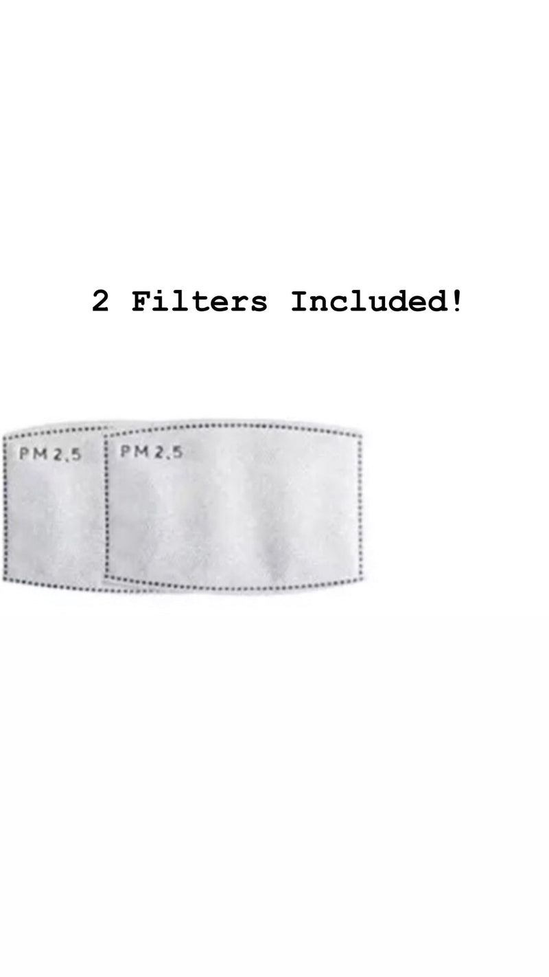 Face Mask Adjustable + 2 Filters - Ships Next Day USPS First Class!