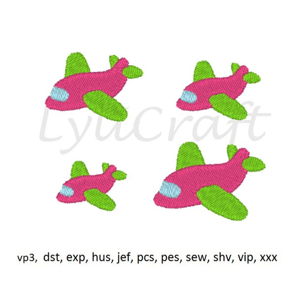 Airplane Toy Embroidery Design