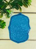 FREE ITH Rectangle Shape Feltie Embroidery Design