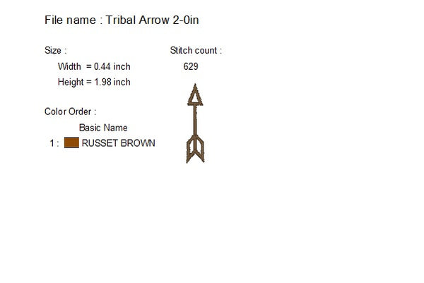 Tribal Arrow Embroidery Design