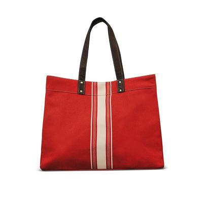 Carryall Tote - Mod Stripe Cream / Red