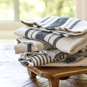 Load image into Gallery viewer, Soft Linen Dish Towel, Black Stripe Assortment