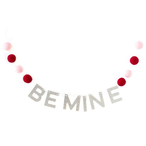 BE MINE FELT BALL BANNER Regular price