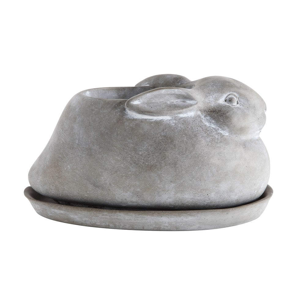 Load image into Gallery viewer, Cement Rabbit Planter w/ Saucer