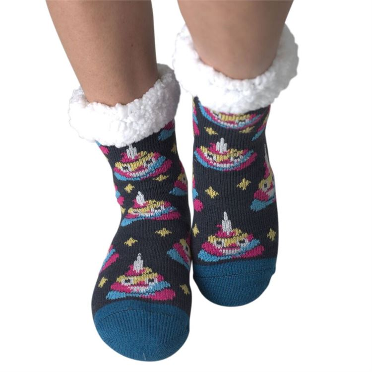Load image into Gallery viewer, Poppy - Womens Sherpa Socks