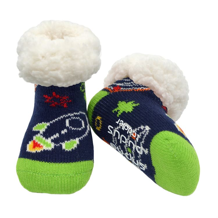 Load image into Gallery viewer, Toddler Classic Slipper Socks | Space Navy