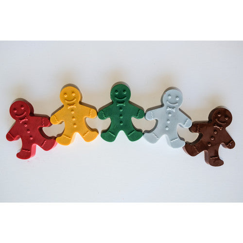 Limited Edition Gingerbread Men Eco-Friendly Crayons