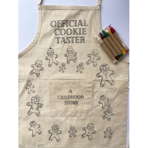 Gingerbread Men: Color Your Own Little Artist Apron with Eco-Friendly Crayons