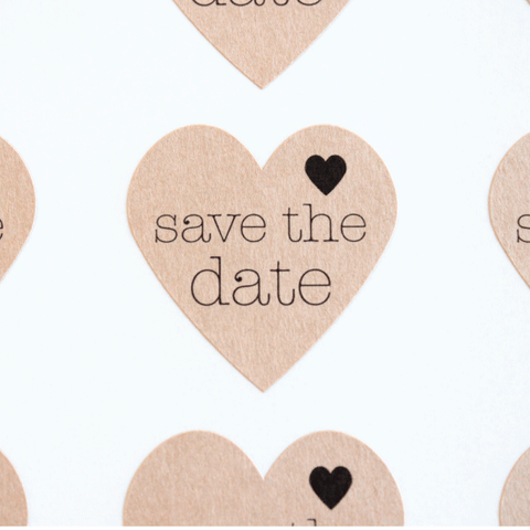 Save the Date Kraft Heart