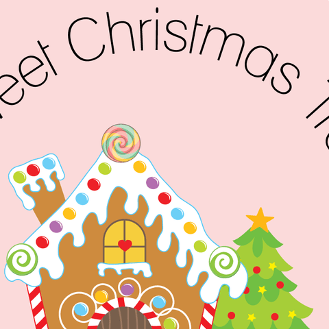Gingerbread House Holiday Label