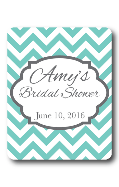 Chevron Bridal Shower Wine Label