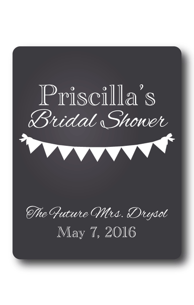 Chalkboard Bridal Shower Wine Label