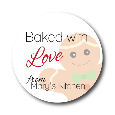 Baked With Love Holiday Sticker