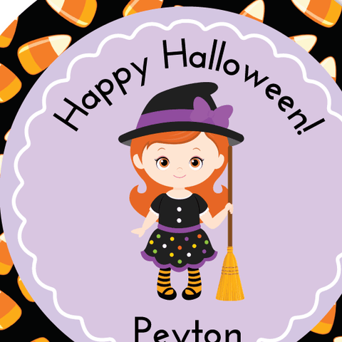 Candy Witch Halloween Sticker