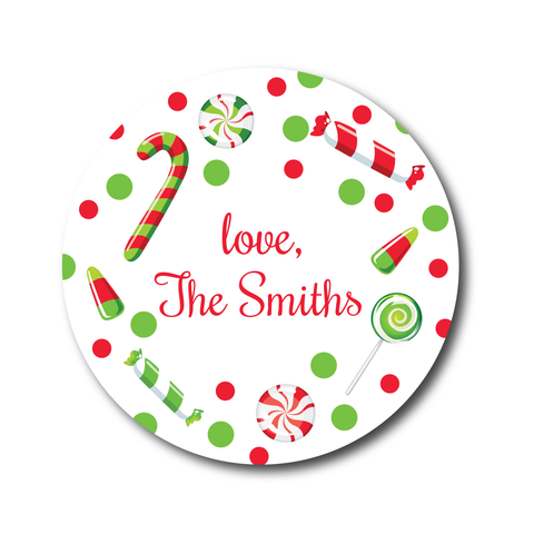 Holiday Candy Stickers