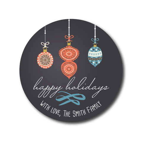 Chalkboard Ornament Gift Labels