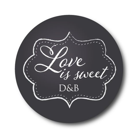 Love is Sweet - Chalkboard Favor Label