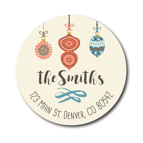 Ivory Ornaments Address Label