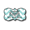 Hugs and Kisses from the Mr and Mrs Bridal Shower Label