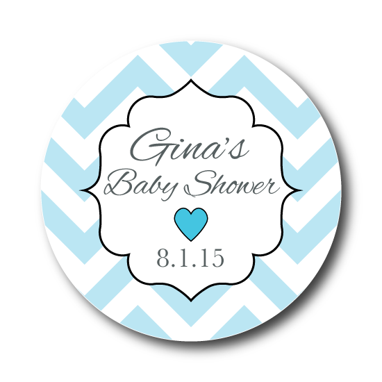 Little Hearts Baby Shower Label
