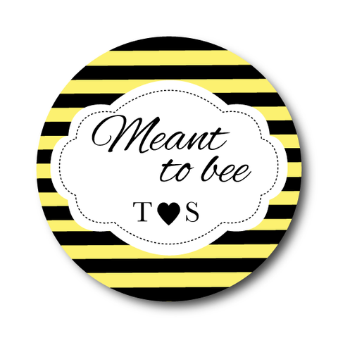 Meant to Bee Bridal Shower Sticker