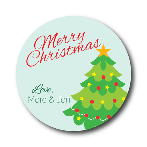 Classic Christmas Tree Gift Sticker