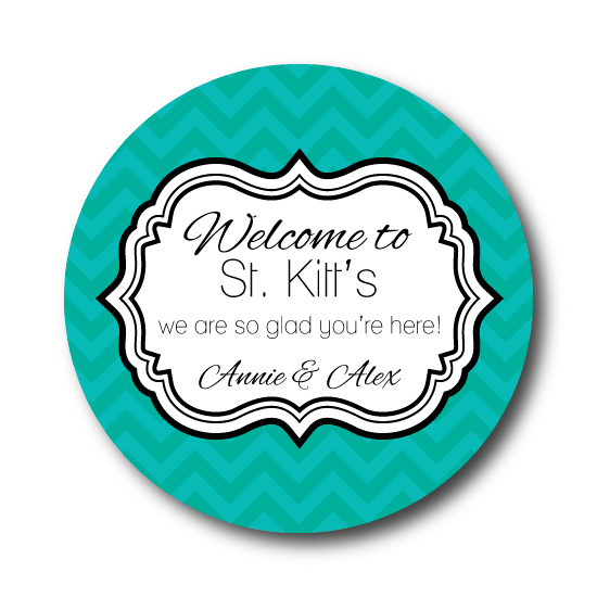 Skinny Chevron Welcome Labels
