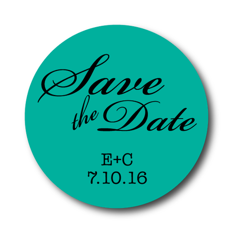 Solid Colored Save the Date