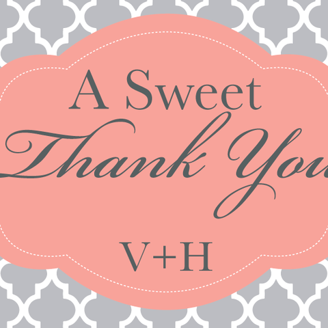 A Sweet Thank You Moroccan Tile Sticker
