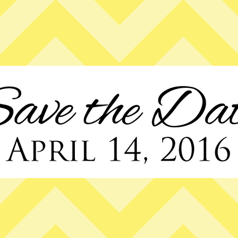 Two Tone Chevron - Save the Date