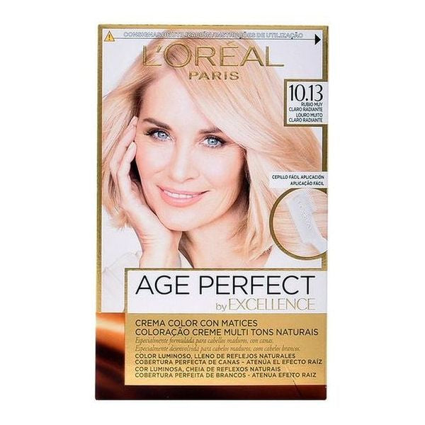 Tinte Permanente Antiedad Excellence Age Perfect L'Oreal Expert Professionnel Rubio