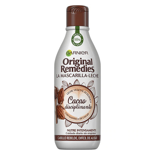 Mascarilla Capilar ORIGINAL REMEDIES leche y cacao Garnier (300 ml)