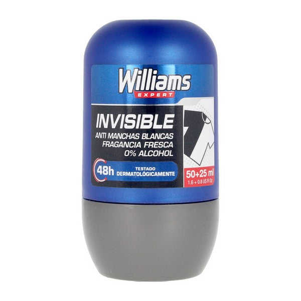 Desodorante Roll-On Invisible Williams (75 ml)