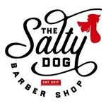 the salty dog barbershop logo