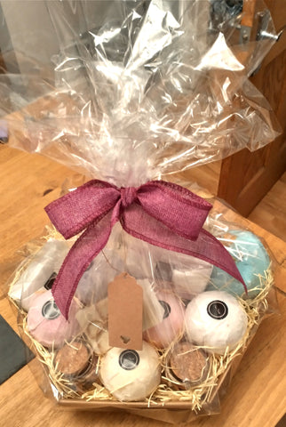 Huge Bath Bomb, handmade soap, bath salts and candles  handmade pamper hamper