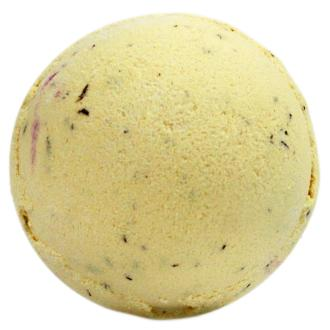 Jumbo Bath Bomb yellow in colour on white background