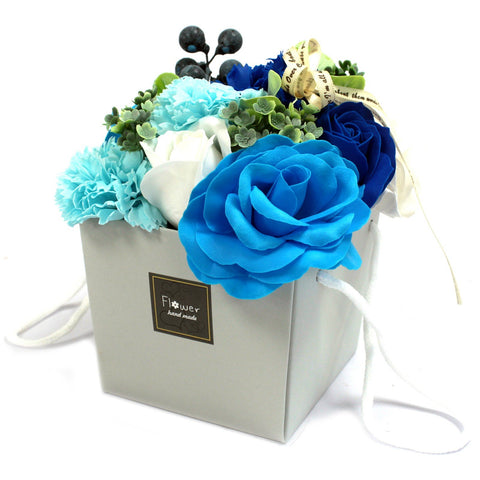 Soap Flower Bouquet - Blue Wedding - S6 Soap