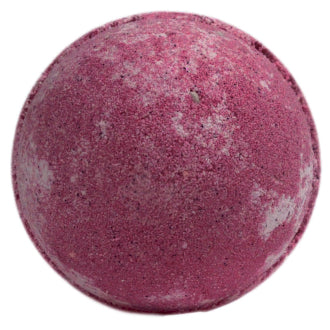 A deep pink Large CHerry Bath Bomb photographed against a white background