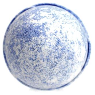 Blue Bath Bomb on white background