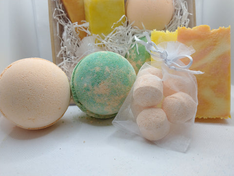 Fruits Handmade Soap & Bath Bomb Gift Set