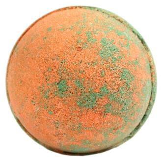 Large orange and green bath bomb