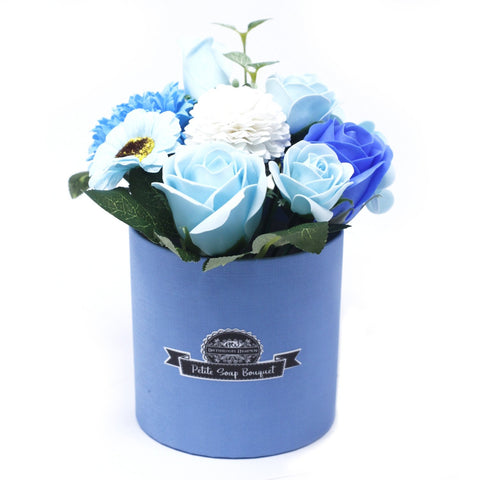 Soap Flower Bouquet Petite Gift Pot - Soothing Blues - S6 Soap