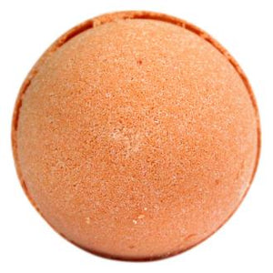 Orange Bath bomb show on white background described as Tangerin & Grapefruit