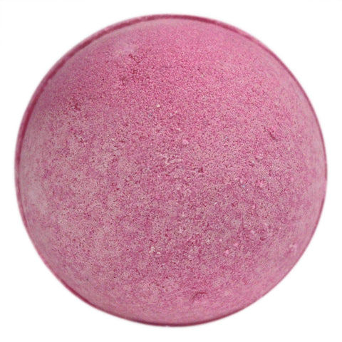 Pink Bath Bomb on white background