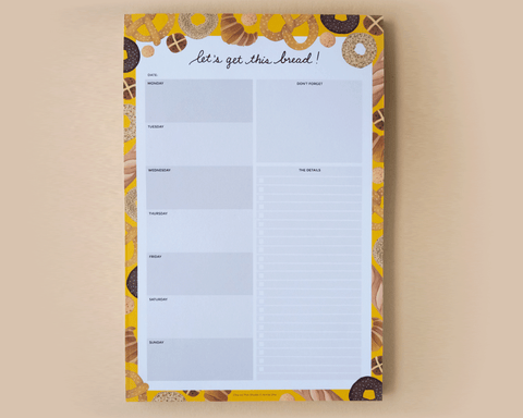 Let's Get This Bread Weekly Planner Notepad