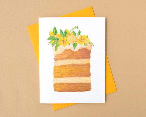 Brown Butter Buttercream Cake Birthday Card