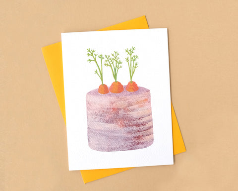 Rustic Carrot Cake Birthday Card