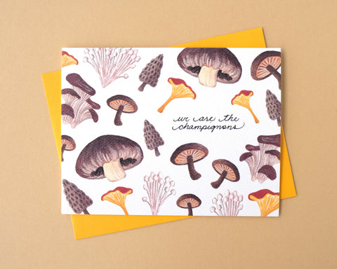 We are the Champignons Greeting Card