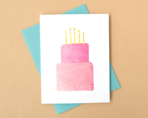 Very Pink Cake Birthday Card